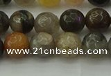 CFJ212 15.5 inches 8mm faceted round fancy jasper beads wholesale