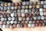 CFJ251 15.5 inches 6mm faceted round fantasy jasper beads wholesale