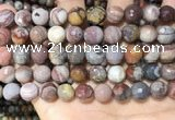 CFJ253 15.5 inches 10mm faceted round fantasy jasper beads wholesale