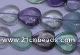 CFL1053 15 inches 12*12mm heart natural fluorite gemstone beads