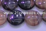 CFL1336 15.5 inches 18mm flat round purple fluorite gemstone beads