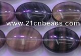 CFL1343 15.5 inches 15*20mm oval purple fluorite gemstone beads