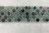 CFL1461 15.5 inches 6mm round A grade fluorite gemstone beads