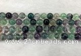 CFL1464 15.5 inches 12mm round A grade fluorite gemstone beads