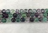 CFL1465 15.5 inches 13mm round A grade fluorite gemstone beads