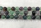 CFL1466 15.5 inches 16mm round A grade fluorite gemstone beads