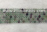 CFL1470 15.5 inches 4mm round AA grade fluorite gemstone beads