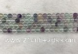 CFL1471 15.5 inches 6mm round AA grade fluorite gemstone beads