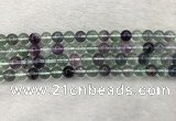 CFL1472 15.5 inches 8mm round AA grade fluorite gemstone beads
