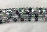 CFL1473 15.5 inches 10mm round AA grade fluorite gemstone beads