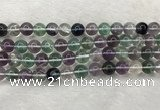 CFL1474 15.5 inches 12mm round AA grade fluorite gemstone beads