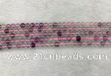 CFL1480 15.5 inches 4mm round rainbow fluorite gemstone beads