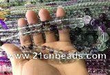CFL1505 15.5 inches 6mm - 12mm round fluorite gemstone beads