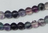 CFL151 15.5 inches 8mm round natural fluorite gemstone beads wholesale