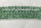 CFL1524 15.5 inches 10mm round green fluorite gemstone beads