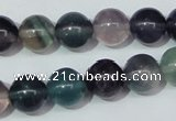 CFL153 15.5 inches 12mm round natural fluorite gemstone beads wholesale
