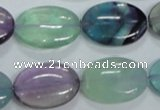 CFL318 15.5 inches 18*25mm oval natural fluorite beads wholesale