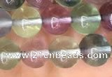 CFL582 15.5 inches 8mm round AAAA grade fluorite gemstone beads