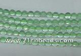 CFL610 15.5 inches 4mm round A grade green fluorite beads wholesale