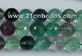 CFL63 15.5 inches 10mm faceted round A grade natural fluorite beads
