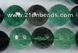 CFL66 15.5 inches 16mm faceted round A grade natural fluorite beads