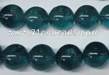 CFL675 15.5 inches 14mm round A grade blue fluorite beads wholesale