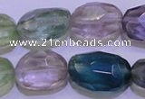 CFL728 15.5 inches 16*22mm faceted nuggets natural fluorite beads