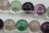 CFL905 15.5 inches 10mm round rainbow fluorite gemstone beads