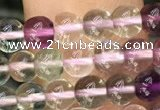 CFL917 15.5 inches 4mm round fluorite gemstone beads