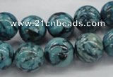CFS105 15.5 inches 14mm round blue feldspar gemstone beads