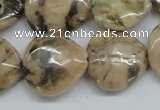CFS12 15.5 inches 20*20mm heart natural feldspar gemstone beads