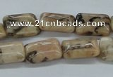 CFS15 15.5 inches 12*16mm rectangle natural feldspar gemstone beads