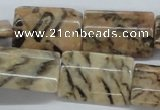 CFS17 15.5 inches 18*25mm rectangle natural feldspar gemstone beads