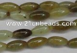 CFW115 15.5 inches 6*13mm rice flower jade gemstone beads