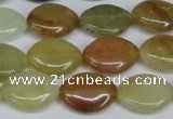 CFW137 15.5 inches 15*20mm marquise flower jade gemstone beads