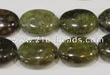 CGA224 15.5 inches 15*20mm oval natural green garnet beads