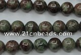 CGA303 15.5 inches 10mm round red green garnet gemstone beads
