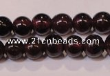 CGA351 14 inches 3mm round natural red garnet beads wholesale