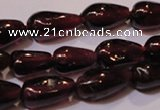 CGA368 15 inches 4*7mm teardrop natural red garnet beads wholesale
