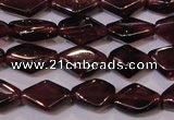 CGA388 15 inches 5*7mm diamond natural red garnet beads wholesale