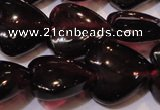 CGA394 15 inches 9*9mm heart natural red garnet beads wholesale