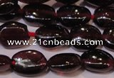 CGA396 15 inches 5*7mm oval natural red garnet beads wholesale