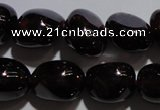 CGA418 15.5 inches 7*9mm nuggets natural red garnet beads wholesale
