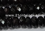 CGA459 15.5 inches 5*8mm faceted rondelle natural red garnet beads
