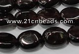 CGA469 15.5 inches 8*10mm oval natural red garnet beads
