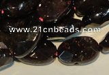 CGA481 15.5 inches 8*12mm faceted oval natural red garnet beads
