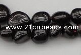 CGA656 15.5 inches 4*6mm - 10*14mm nuggets red garnet gemstone beads