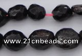 CGA658 15.5 inches 8*10mm - 15*18mm faceted nuggets red garnet beads