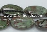 CGA67 15.5 inches 22*30mm oval red green garnet gemstone beads