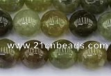 CGA711 15.5 inches 6mm round natural green garnet gemstone beads